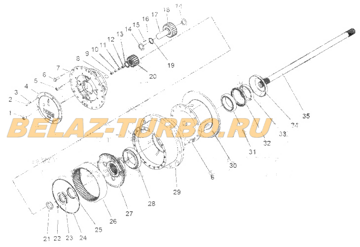 REAR WHEEL-END-REDUCER ASSEMBLY