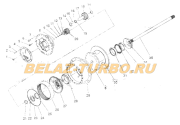 FRONT WHEEL-END-REDUCER ASSEMBLY