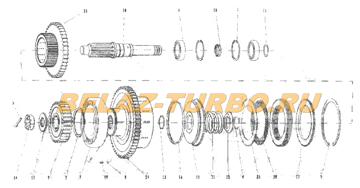 CLUTCH ASSEMBLY (II IV)